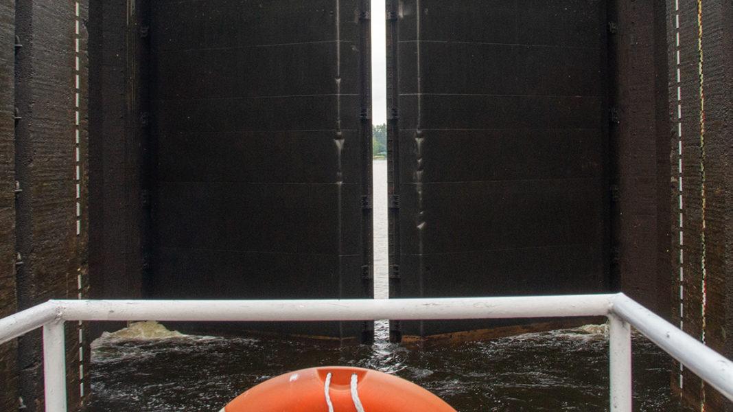 Ворота шлюза Сайменского канала
